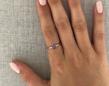 טבעת עין כסף - טבעות עיניים - טבעת כסף עדינה