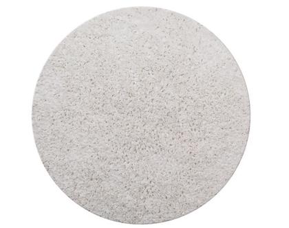 שטיח דיסקו עגול 130 לבן
