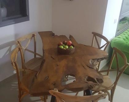 שולחן אוכל פראי פלטה טיק רגל נפחות