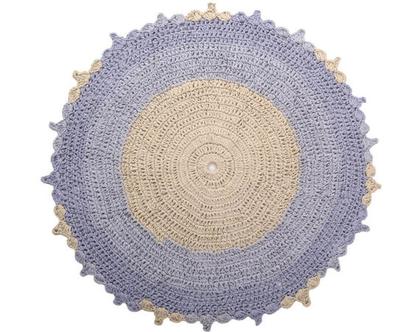 שטיח בילבי עגול 130 תכלת