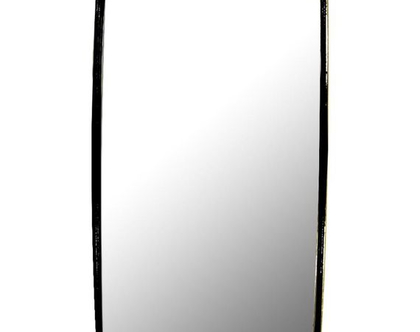 מראה בצבע שחור מלבנית 45/75 ס״מ