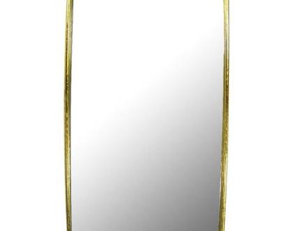 מראה בצבע זהב מלבנית 45/75 ס״מ