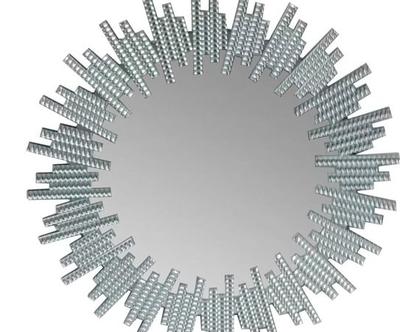מראת קריסטל איכותית מסגרת שמש קוטר 90 ס״מ