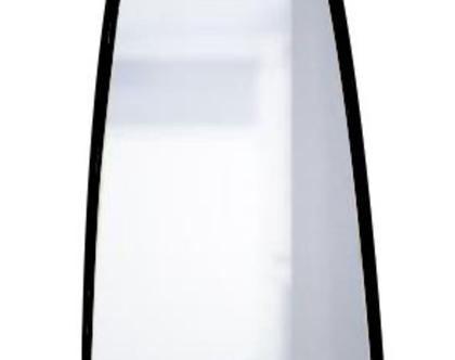 מראת גוף מלבנית מעוגלת שחורה 140/50 ס״מ