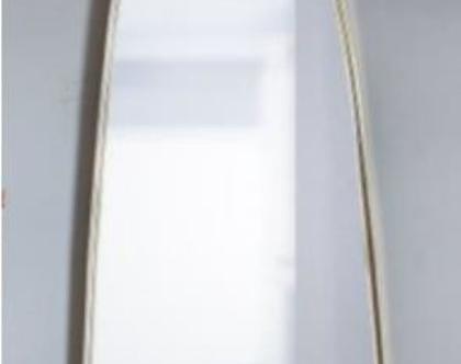 מראת גוף מלבנית מעוגלת זהב 140/50 ס״מ