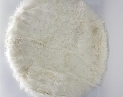 שטיח פרווה עגול