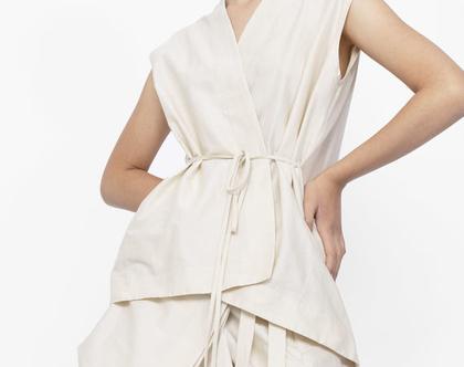 חולצת ווסט   גופיית שמנת   חולצה עם קשירה   חולצת מעטפת