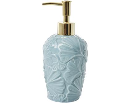 כלי לסבון מקרמיקה תבליט עלה תכלת | SOFI | RICE DK