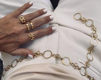 טבעת כפולה טבעת פסים  טבעת פתוחה  טבעת נקיה  טבעת גאומטרית  טבעת מצופה בזהב 2 מיקרון