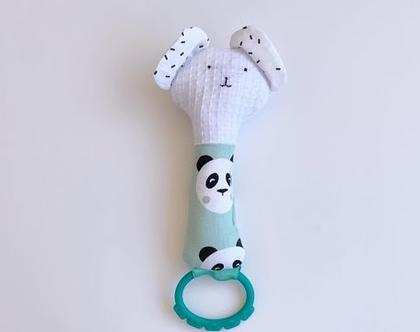 משחק התפתחות | רעשן לתינוק | בובת ארנב | בובת חתול | נשכן | בובה לתינוק | בובת דובי פנדה