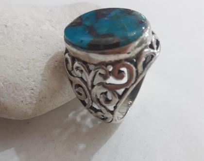 טבעת כסף עם טורקיז