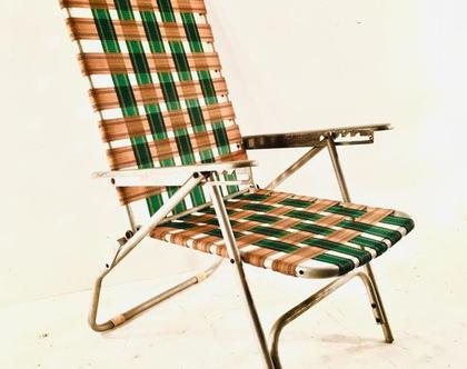 כסא נח מתקפל וינטאג'