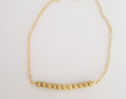 צמיד גולדפילד מוט אבנים בצבע זהב מנצנץ - משלוח חינם