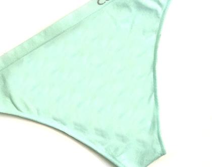 Calvin Klein | תחתון חוטיני ירוק לוגו קלוין קליין