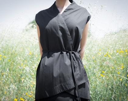 חולצת ווסט   גופייה שחורה  חולצה עם קשירה   חולצת מעטפת