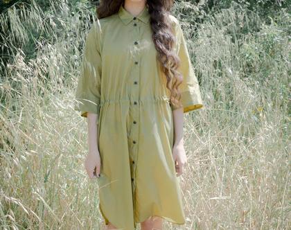 שמלת לונה   שמלת מידי   בד ניילון   שמלה אוורירית