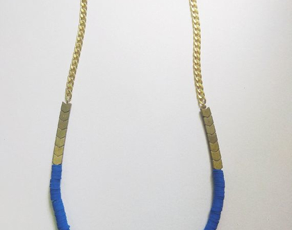 שרשרת המטייט זהב וכחול קיסרי