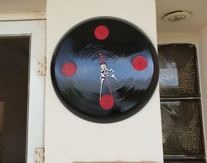 """שעון קיר מעץ 30 ס""""מ עבודת יד - 1502"""