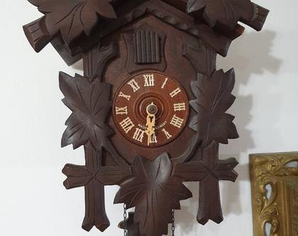 שעון קוקיה מקורי / שנות ה60/ היער השחור/ וינטאג'