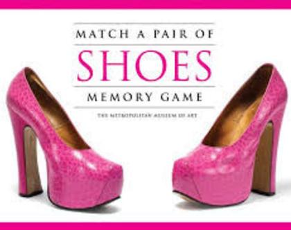 משחק זיכרון למבוגרים (אופנה) Match a Pair of Shoes Memory Game