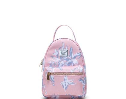 תיק גב | תיק לנערות | תיק לנשים | תיק גב הרשל | Nova mini Backpack |קורל פרחוני | Herschel