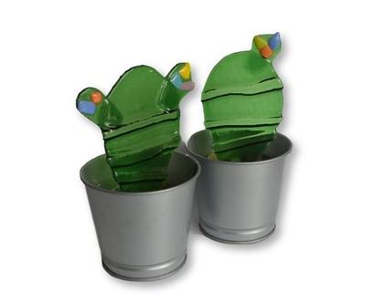 קקטוסים לקישוט מעוצבים זכוכית סילבינה עיצובים