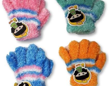 כפפות כבש לילדים   כפפות חורף לילדים