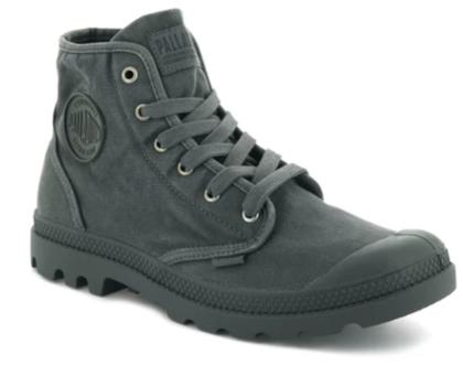 נעלי פלדיום קצרות אפור כהה PALLADIUM PAMPA HI METAL BLACK