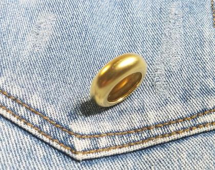 טבעת בומביי מוזהבת