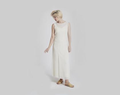 שמלות לבנות - שמלת כלה לבנה קלילה - שמלה לבנה נקייה עדינה - שמלת שיפון משי נקיה עדינה