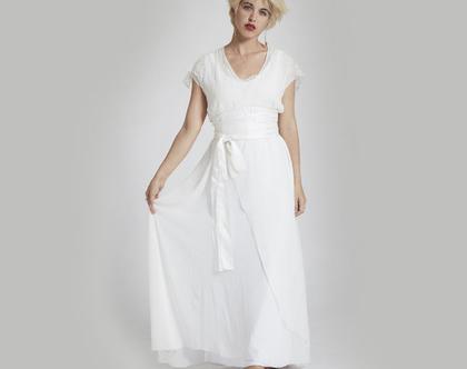 שמלת כלה רומנטית עדינה ומחמיאה- שמלות כלה מעוצבות נקיות בקו רך