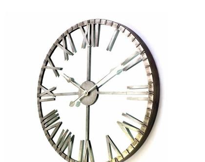 שעון קיר | קוטר 61 | כסוף | *** השילוח חינם ***