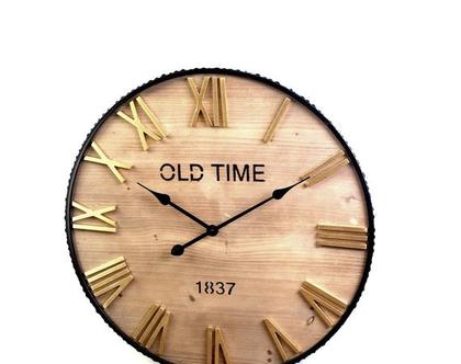 שעון קיר | קוטר 65 | כסוף | *** השילוח חינם ***