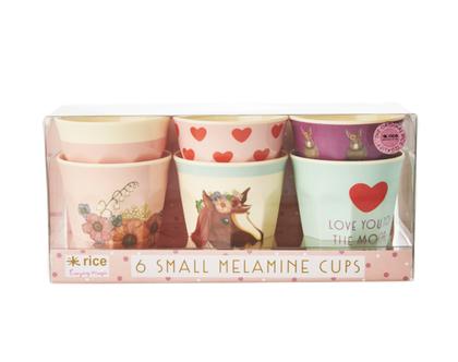 סט 6 כוסות מלמין לילדים חיות משק ורוד | רייס | RICE DK