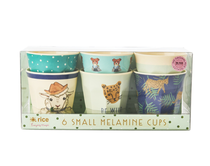 סט 6 כוסות מלמין לילדים חיות משק ירוק | רייס | RICE DK