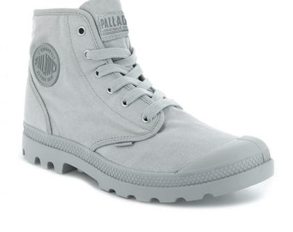 נעלי פלדיום קצרות אפור בהיר PALLADIUM PAMPA HI VAPOR