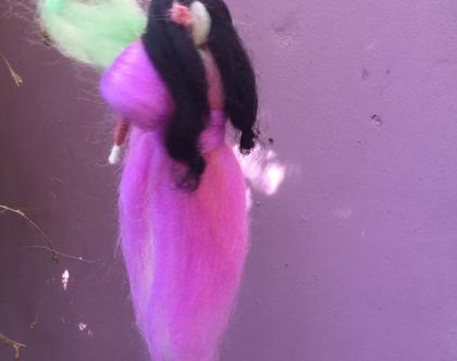 פית ורד שחורת שיער - פיה אנטרופוסופית - פיה בליבוד מחט - פיה מצמר טבעי - פיה קסומה - פיה לילדה