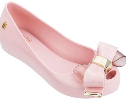 """נעלי בובה מליסה לילדות בצבע ורוד עם פפיון Kids Ultragirl Sweet Black Galaxy מק""""ט 32581"""