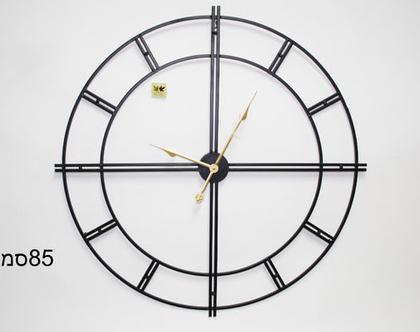 שעון קווים 84 שחור