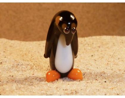 בעלי חיים מיניאטורים מזכוכית פינגווין