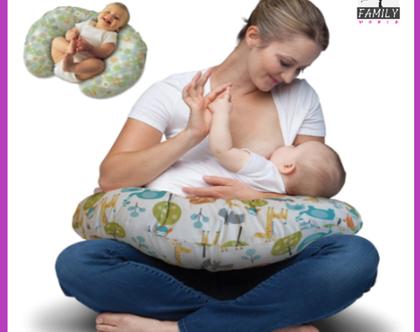 כרית הנקה ליולדת ולתינוק כרית מותן בצורת U בונוס כרית הגבהה תואמת לאחיזת ראש לתינוק