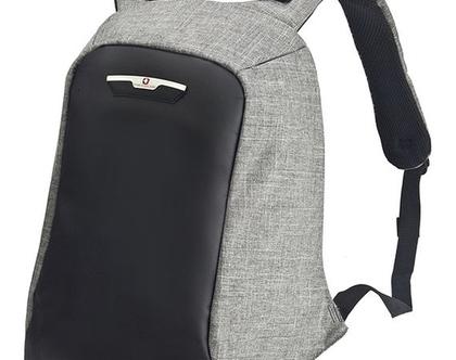 תיק גב אורטופדי למחשב נייד דגם סוויס פרוטקטור נגד כייסים