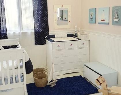 שטיח לחדר ילדים, שטיח מלבני כחול נייבי, שטיח לחדר ילדים בצבע כחול, שטיח מעוצב לחדר ילדים, שטיח לחדר תינוק