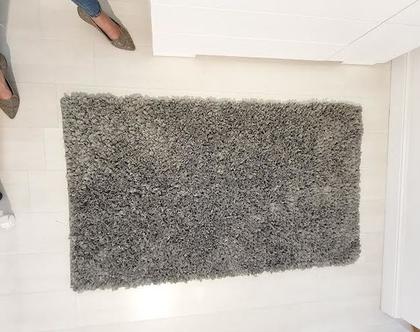 שטיח לחדר ילדים אפור כהה/ שטיח מעוצב לחדר ילדים מלבני / שטיחים סרוגים/ שטיחי PVC