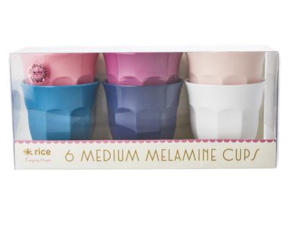 סט 6 כוסות מלמין אספרסו צבעי SOFI | RICE DK | simply yes