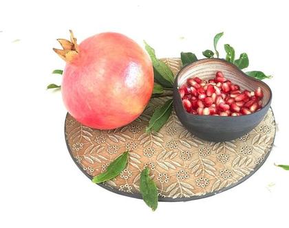 כלי קרמיקה לחג | מגש וצלוחית לתפוח בדבש | מתנה לחג | מתנה לראש השנה | מגש מעוצב