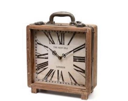 אחרון‼️ שעון מרובע מזוודה בסגנון רטרו | שעון מעוצב לשידה, מדף או שולחן | שעון מיוחד ביותר