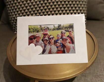 איגרת שנה טובה עם תמונה מוטבעת על אלומיניום מגנט   מתנה בעיצוב אישי   אקססוריז לבית   מצעים מעוצבים