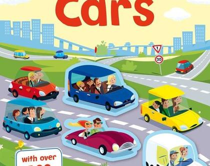 חוברת 100 מדבקות מכוניות