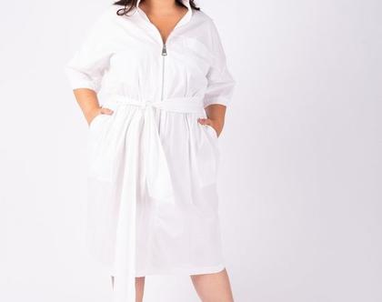 שמלת לבנה עם רוכסן